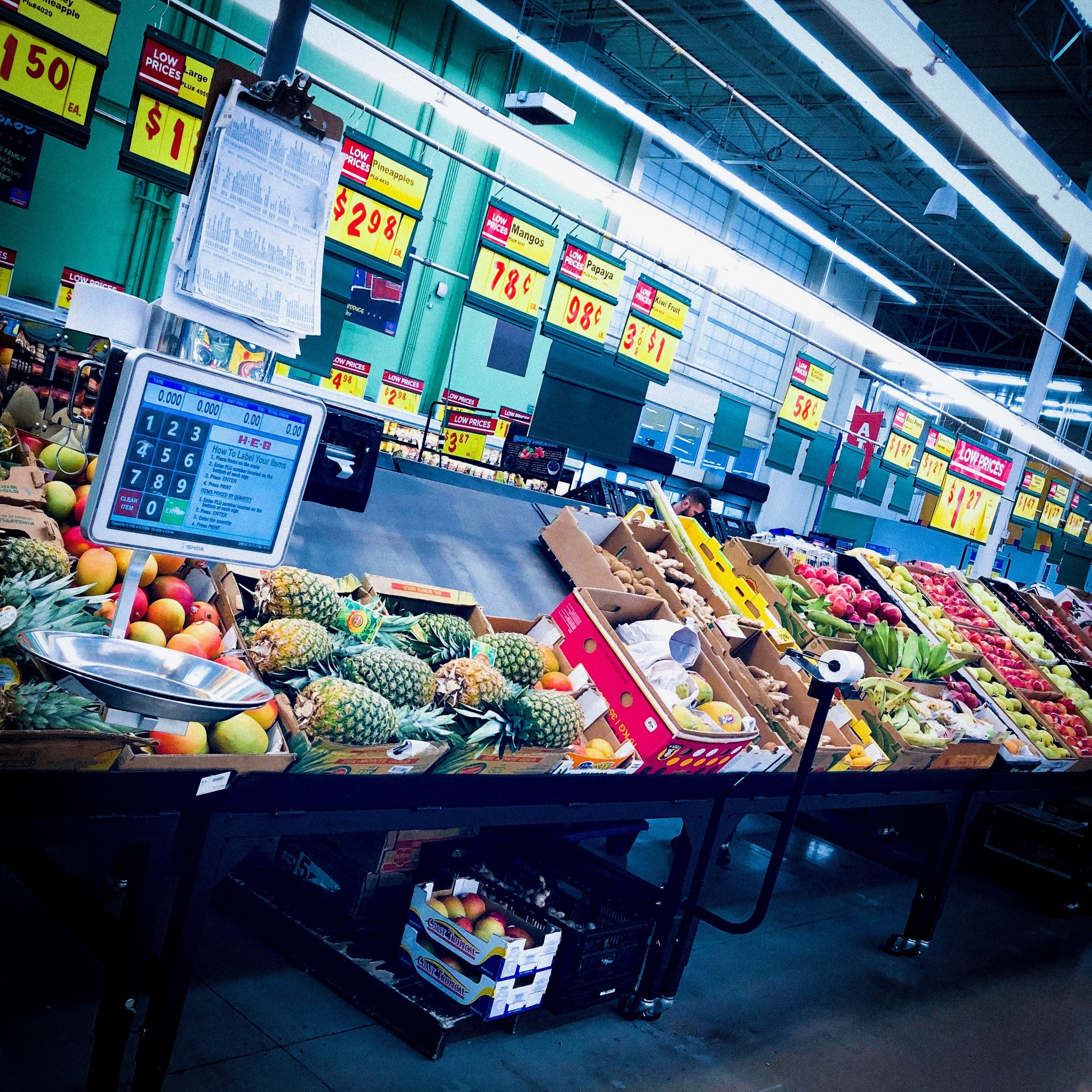 """The healthy eater probably shops around the """"perimeter"""" of the grocery store where all the whole-foods are located."""