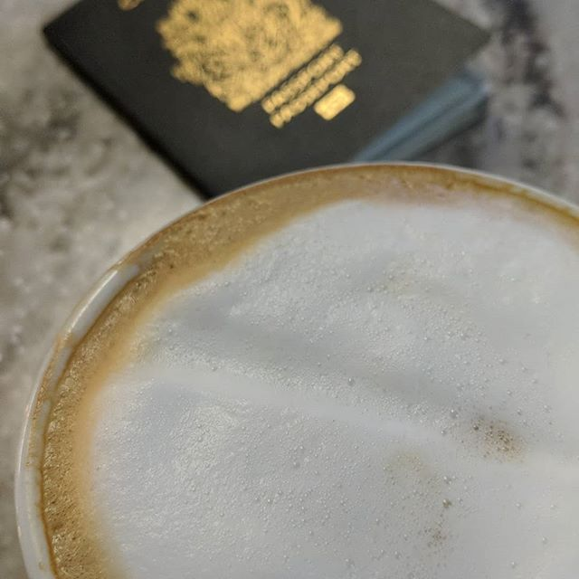 Happy tank in motion! ✈️🗽 . . . #newyork #airports #cappucino #travel #earlymorning #morecoffeeplease