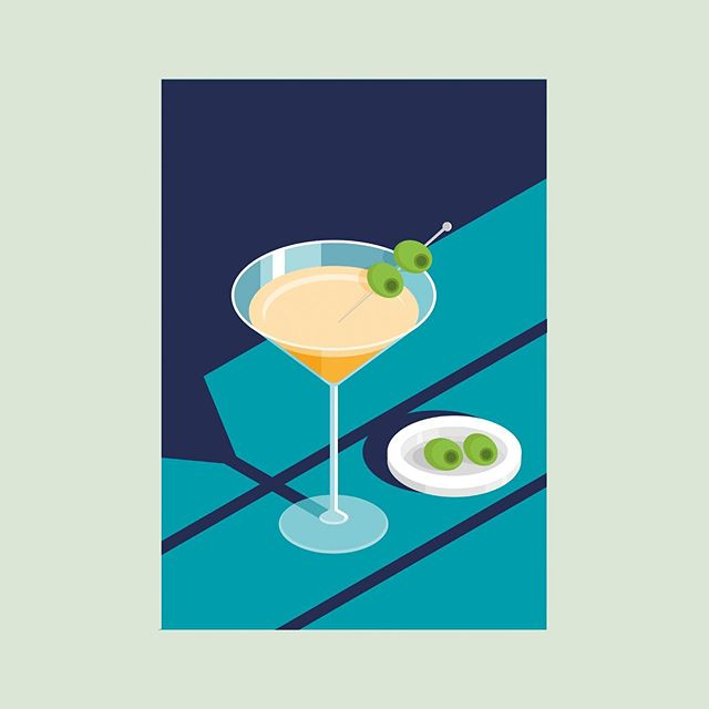 These isometric illustrations were created for a cocktail event at the White Label bar a couple of months back, dirty martini anyone?! 🍸  #illustration #isometric #bar #recipecards #cocktail #recipe #dirty #martini #colour #illustrationoftheday #vector #digitalart #drinks #marketing #cheers