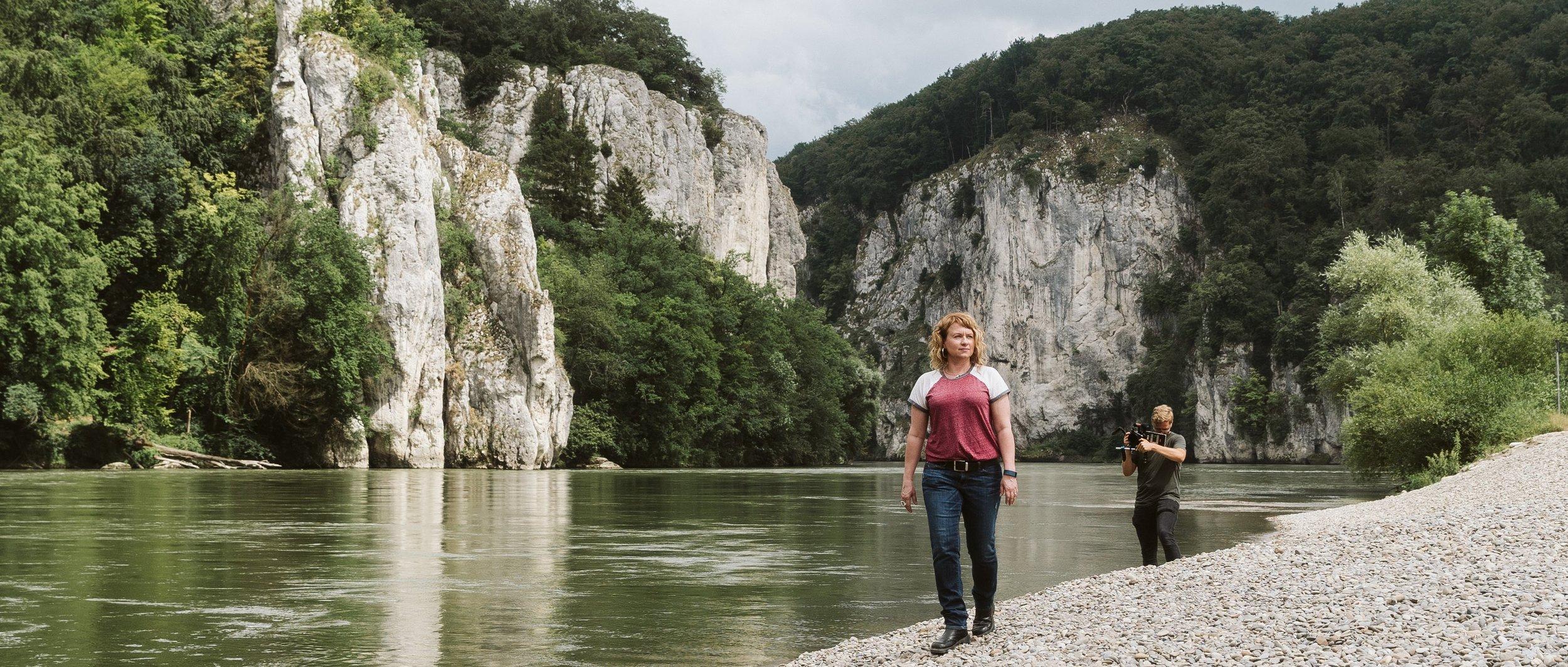 Tonya Cornett takes in the surrounding Bavarian landscape.