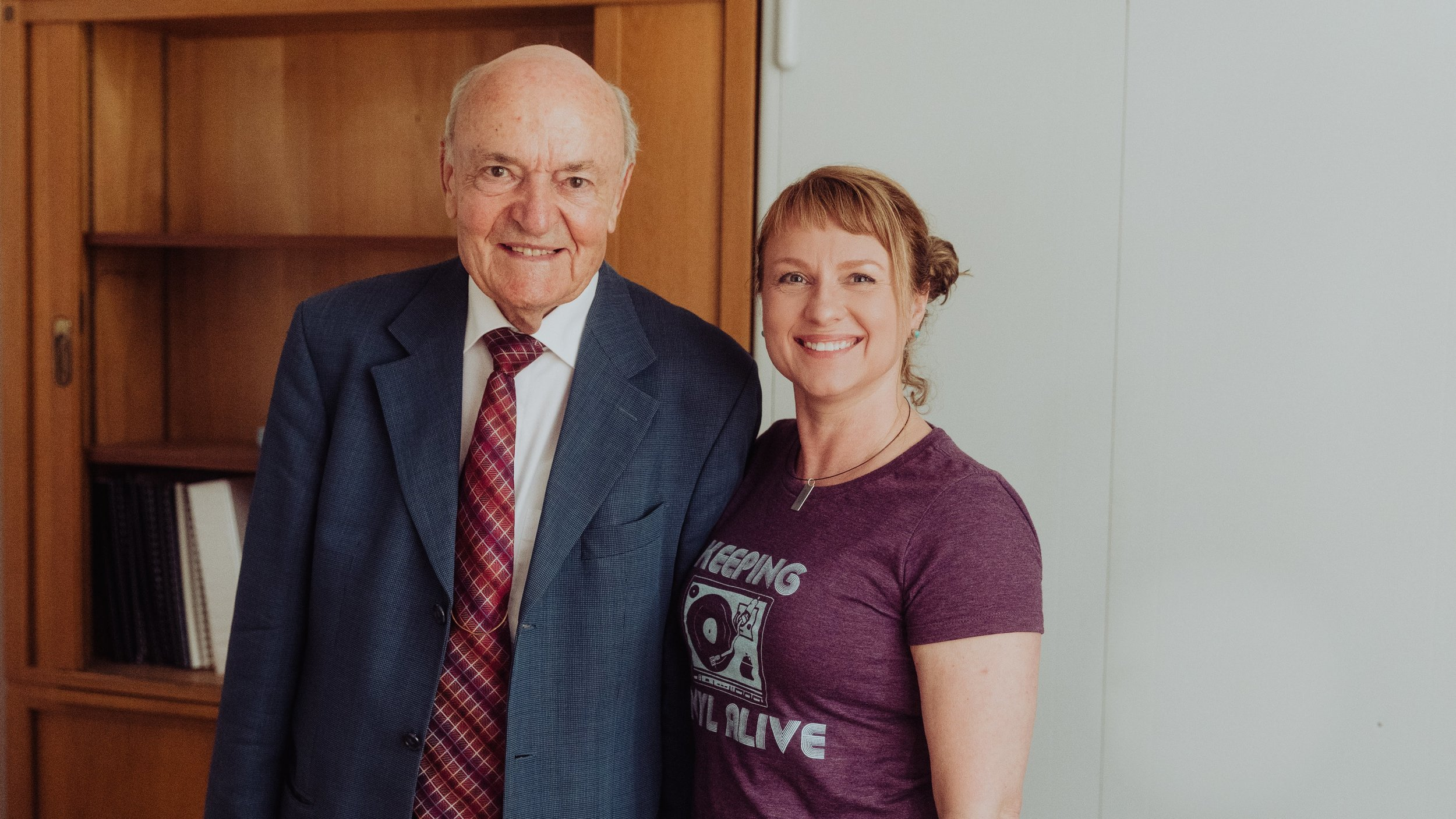 Two masters: Tonya Cornett with Professor Ludwig Narziss