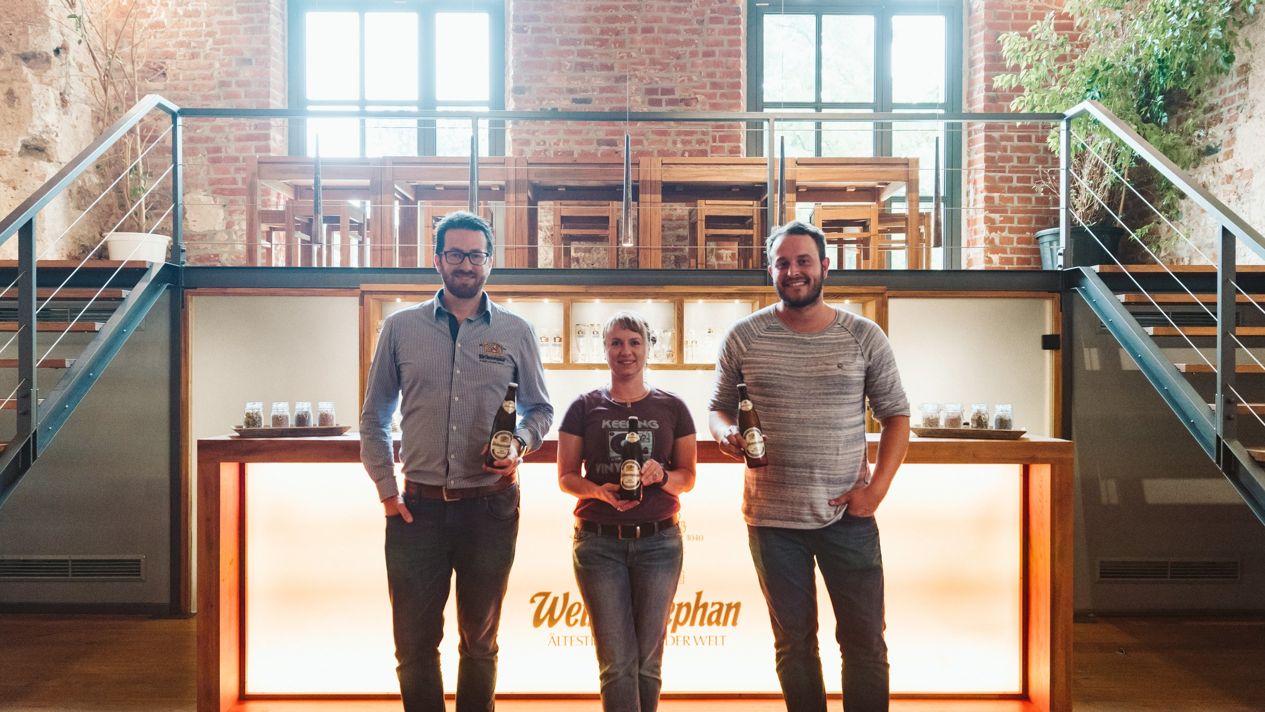 Brewmaster Tobias Zollo of Weihenstephan with Tonya Cornett and Ferdinand Weingarten