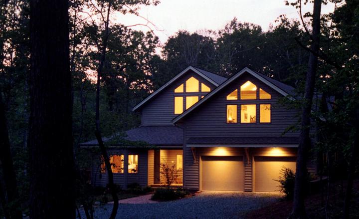 contemporary hillside home -
