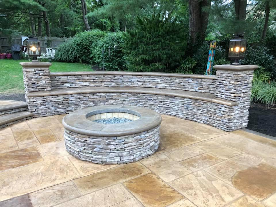 Stone: Asher laurel cavern.  installer: patrick breen masonry & concrete