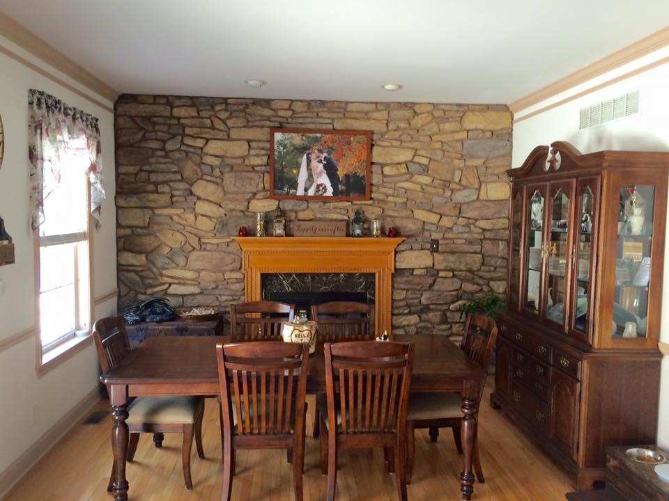 stone: willow shadow rock. Installer: art brick stone & stucco