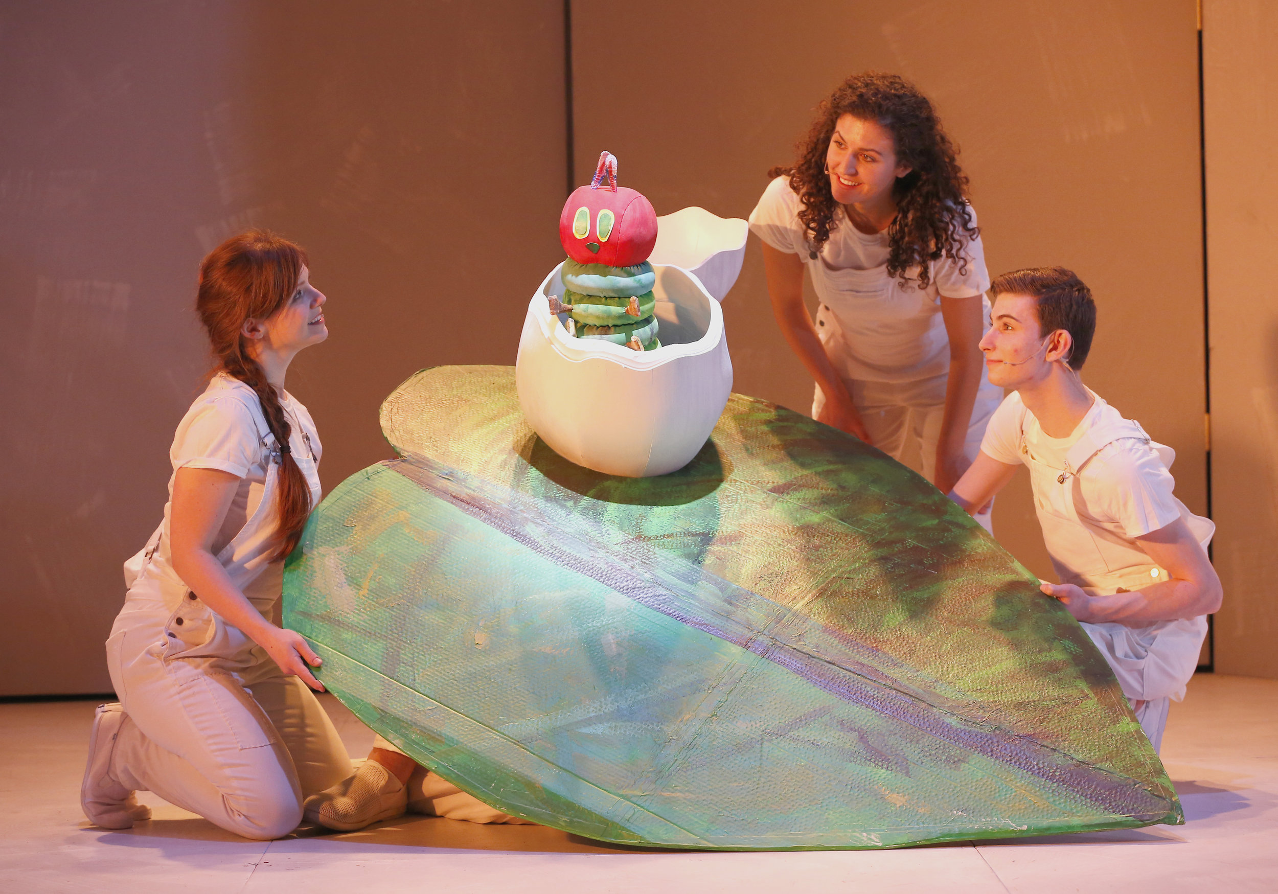 The Very Hungry Caterpillar. Ariel Lauryn, Kayla Prestel and Jake Bazel. Photos by Carol Rosegg.JPG