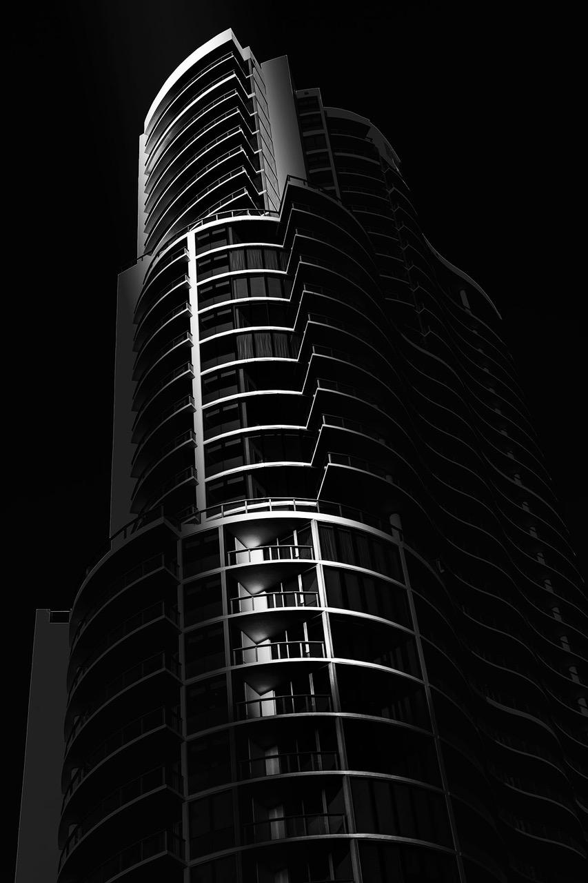 Curved Balconies Gradient Flat