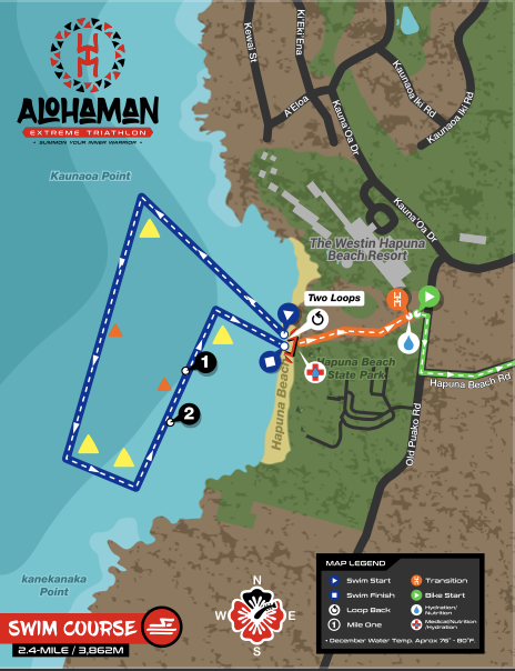 AKXTRI SWIM COURSE MAP -