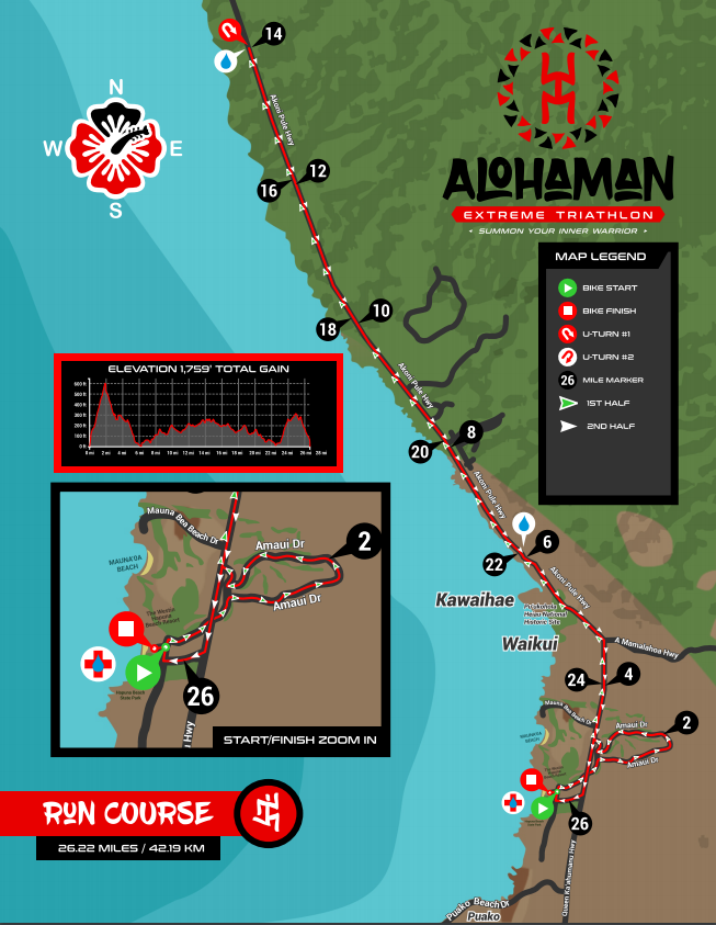 AKXTRI RUN COURSE MAP -