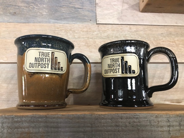 One of a kind hand thrown True North coffee mugs.