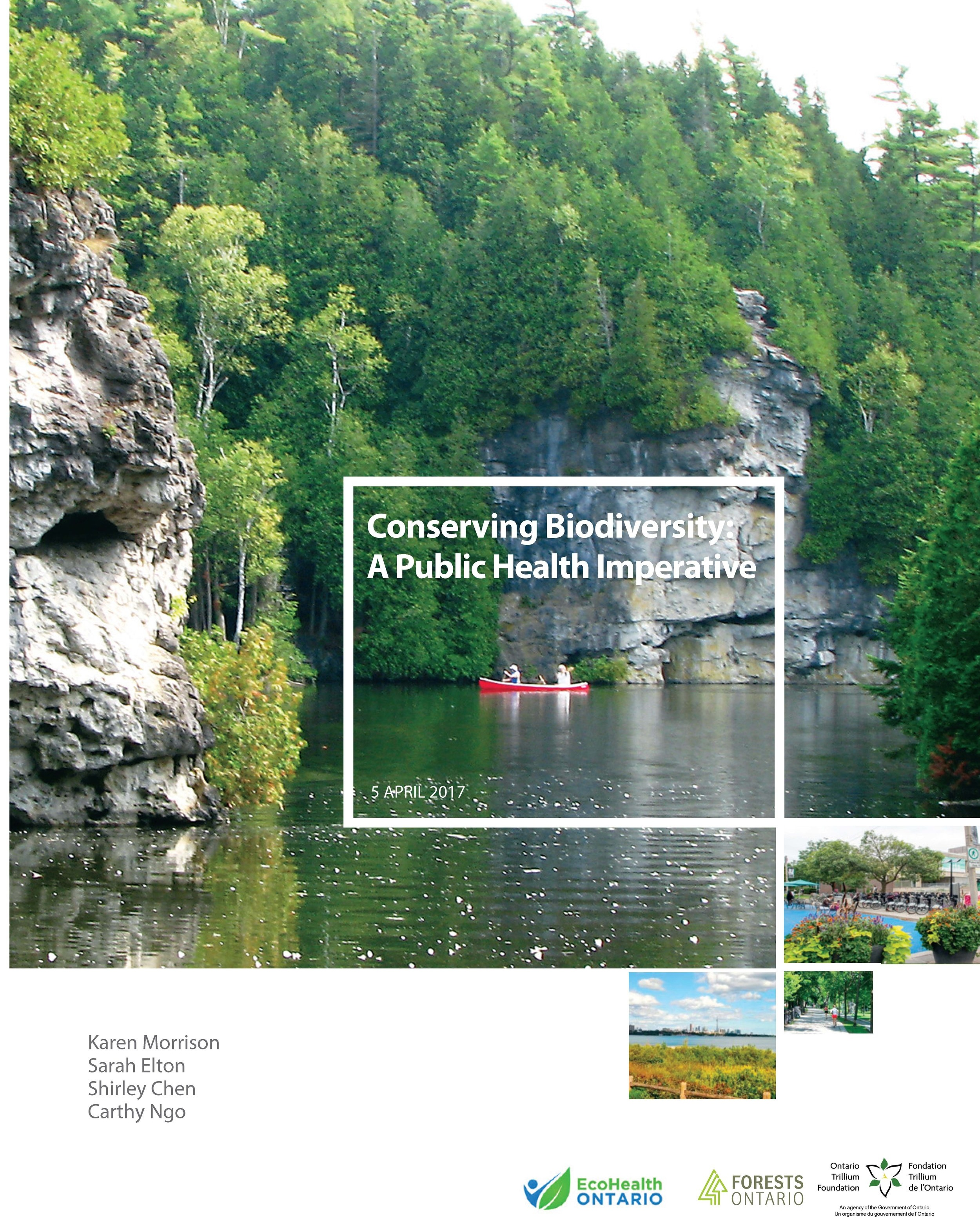 Conserving Biodiversity: A Public Health Imperative - Conserving Biodiversity: A Public Health Imperative is a report from EcoHealth Ontario that compiles information about the essential health benefits provided by biodiversity. You can view highlights from the report and read it in full at conservebiodiversity.ca.