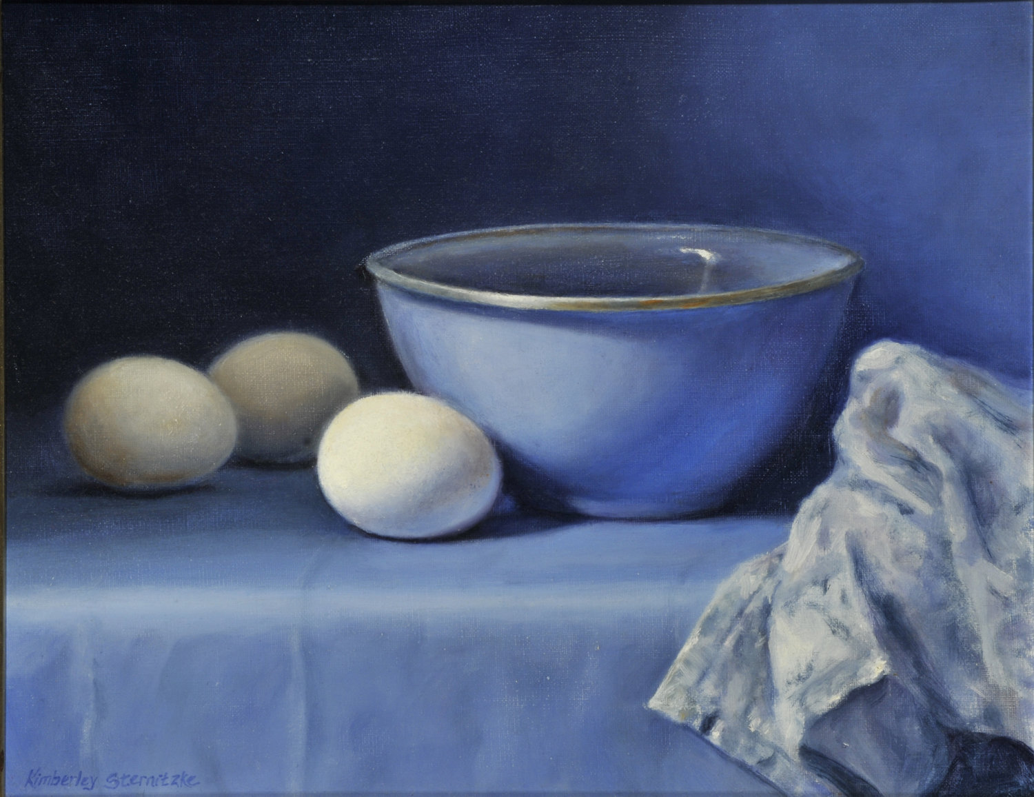 """EGGS AND BLUE 14 x 11"""""""