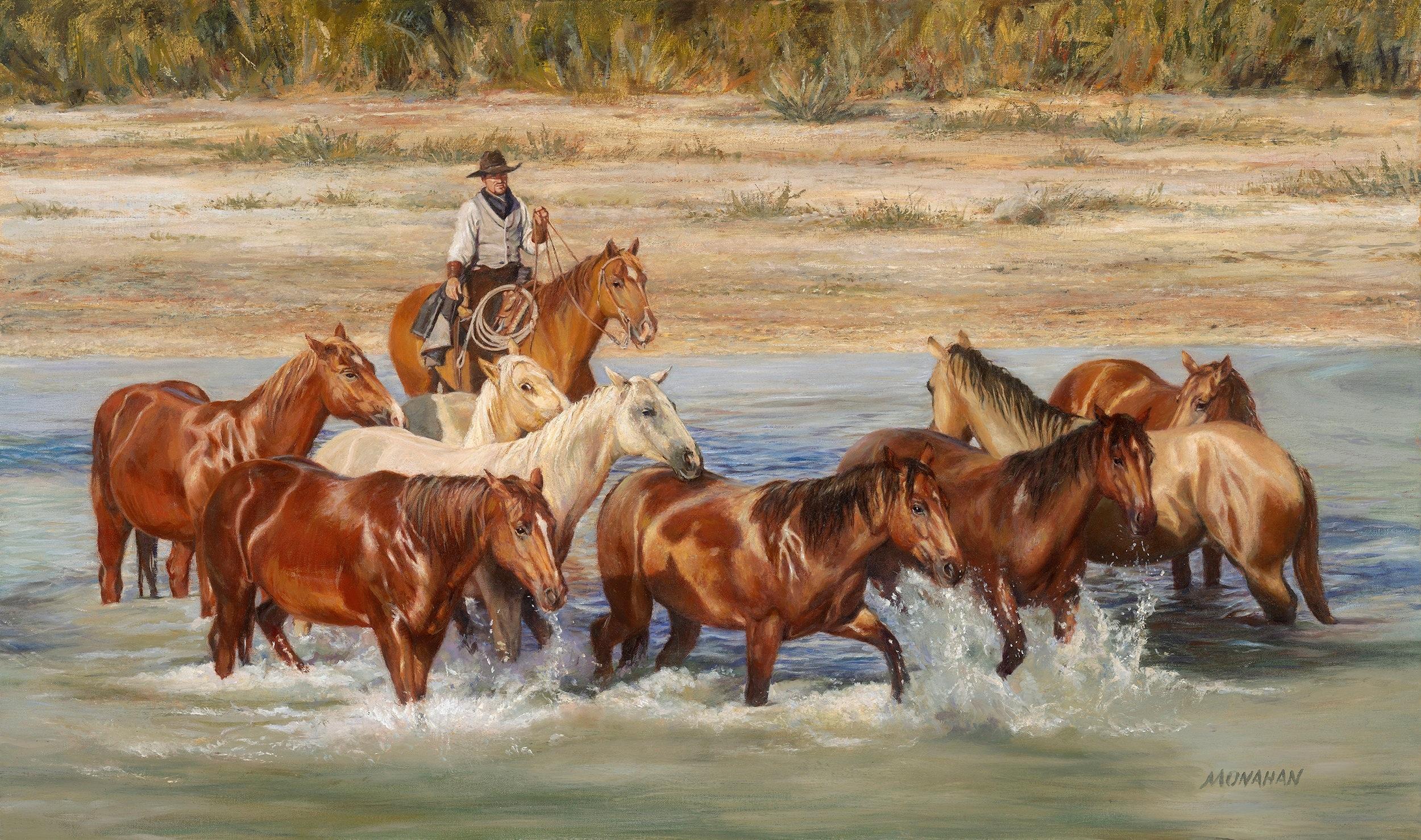 "HORSE PLAY 50"" x 30"""