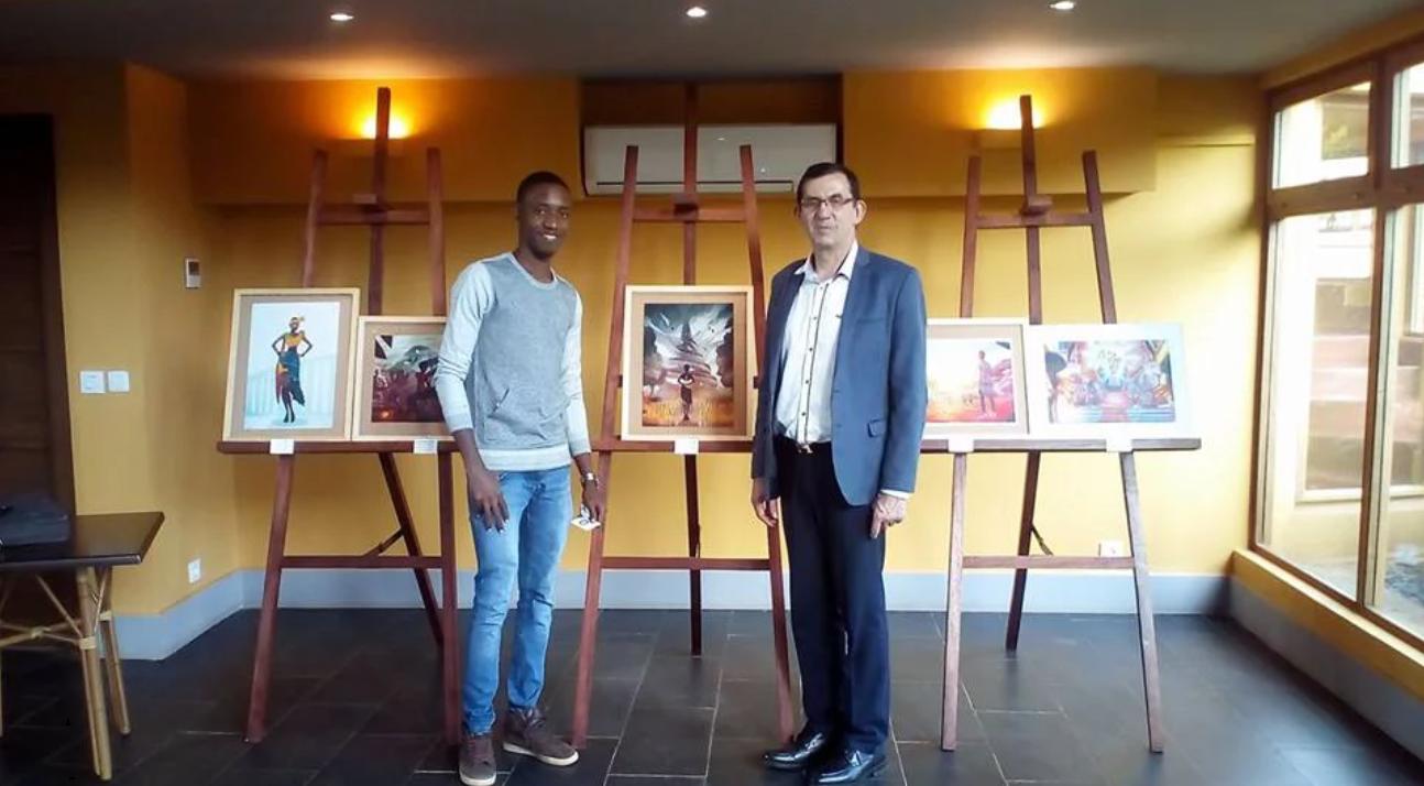 De la Bande dessinée à la peinture numérique - En tant que tableau lors de ma dernière exposition (« De la Bande dessinée à la peinture numérique », au Zingana hôtel, Bafoussam du 28 Mars au 31 Mai 2017), l'illustration a été le coup de cœur de l'ambassadeur de France au Cameroun qui se l'est offert.