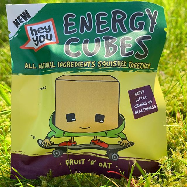 Oats, oats, wonderful, magical nutritious oats. Get them any way you can to keep your energy up, my favourite way.... fruit 'n' oat Hey You cubes. So what if they're the kids, they're delicious....! Www.heyyoucubes.com