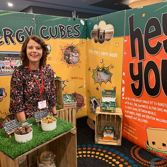 Hey You! We're at Innoveat trade show today. Excited to meet some travel industry folk and show off our delicious children's snacks. Wish us luck! X