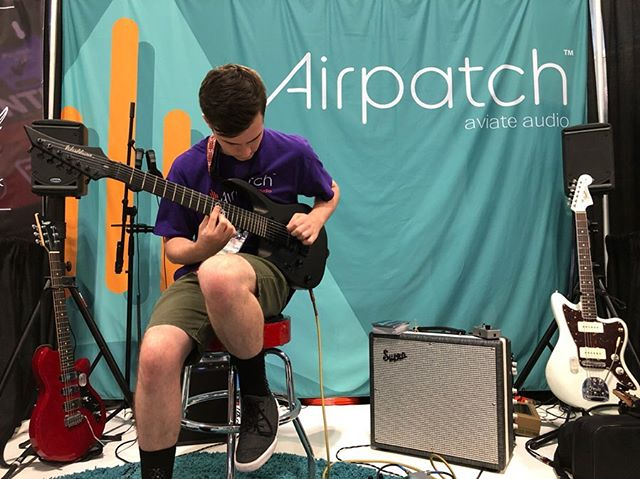 Shout out to @cotterchamplin and @drummsonguitar doing the #Airpatch demo this weekend! Talented people everywhere 💥