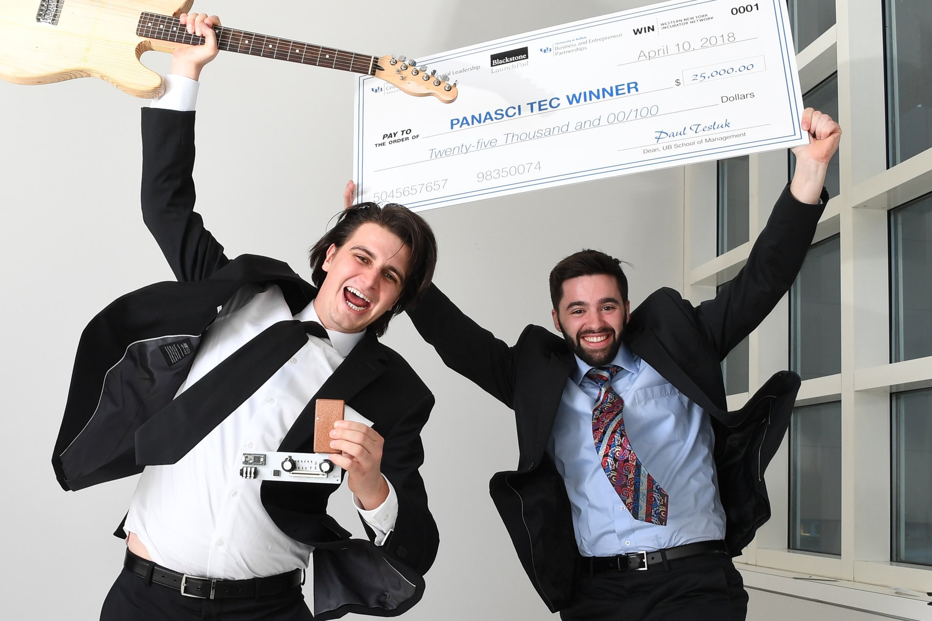 Shane Nolan(left) and Ryan Jaquin(right) celebrating Panasci Competition Win