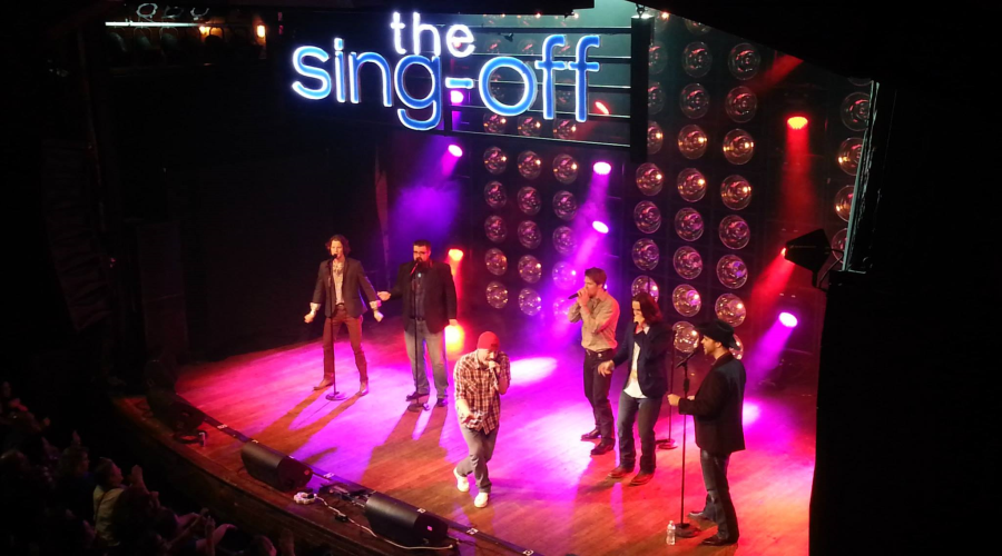 On tour with Home Free on NBC's The Sing Off.