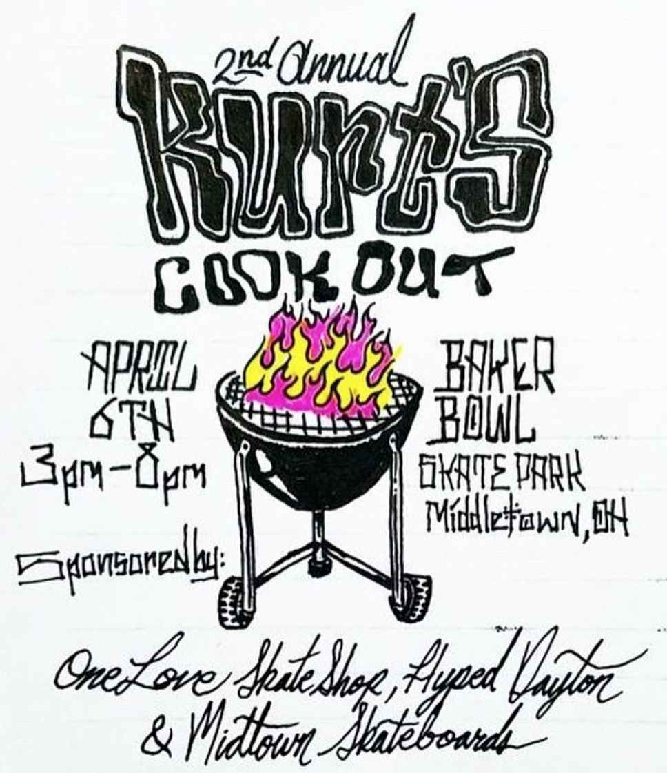 Logan Trenum - Calligraphy, Ink on Paper, 2019.Poster for Hyped-sponsored event