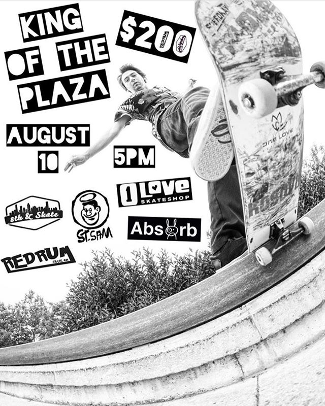 This Saturday! King of the Plaza at 5 PM. @the_redrum_crew is organizing this one so you know it'll be a good time. @backtard back tail snapped by @daveackels 📸 #kingoftheplaza #daytonohio