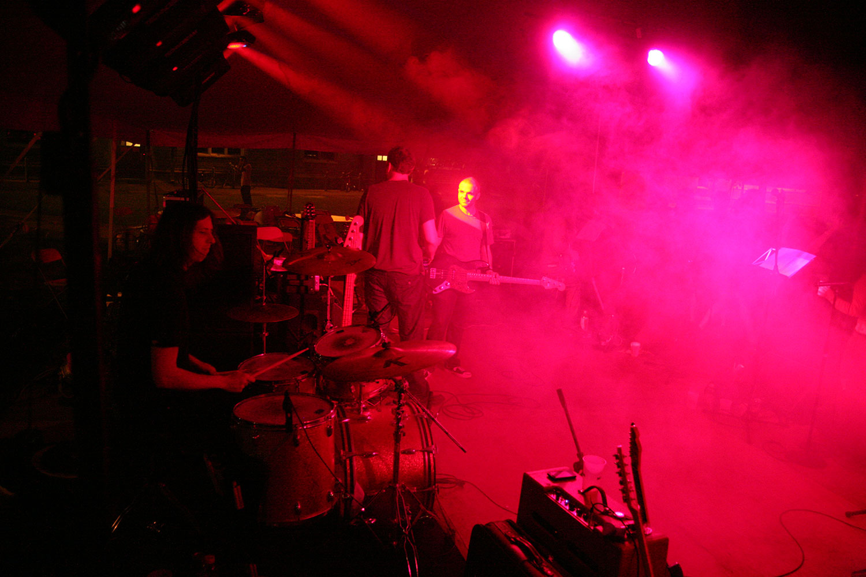 Princeton Reunion Dexter Lake Club Band Drummer Red Lighting