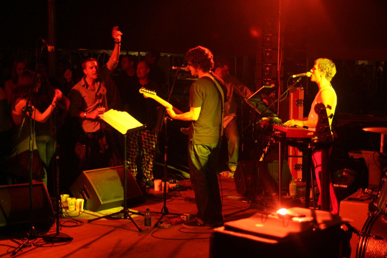 Princeton Reunion Dexter Lake Club Band Singer and crowd