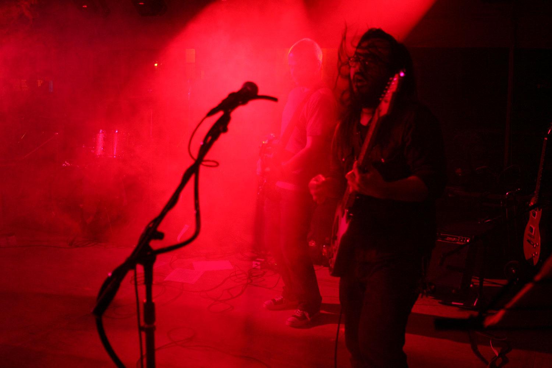 Princeton Reunion Dexter Lake Club Band Guitarist smoke machine