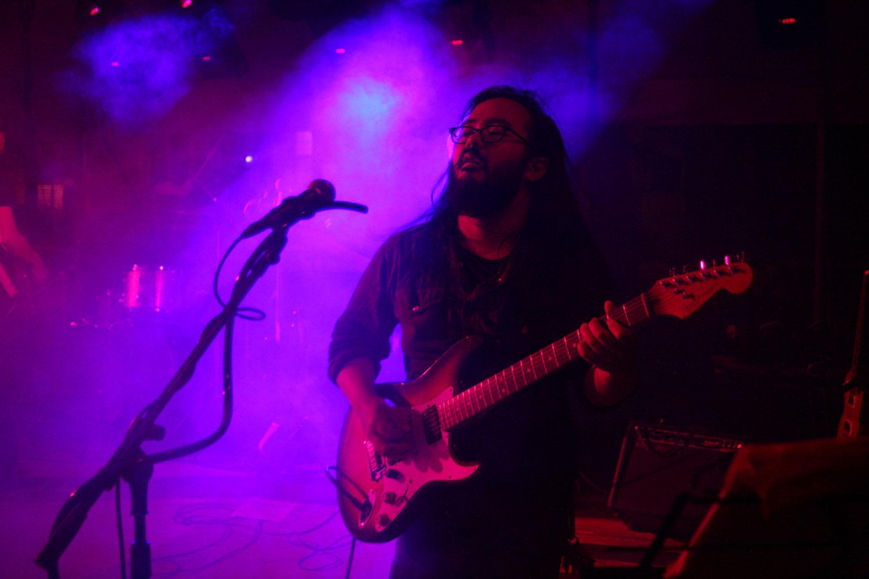 Princeton Reunion Dexter Lake Club Band Guitarist solo closeup