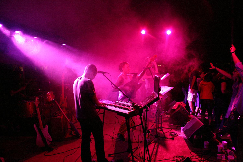 Princeton Reunion Dexter Lake Club Band Keyboard Player in Spot Light