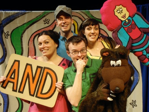 "Angie and the cast of ""Schoolhouse Rock Live!"" in 2009"