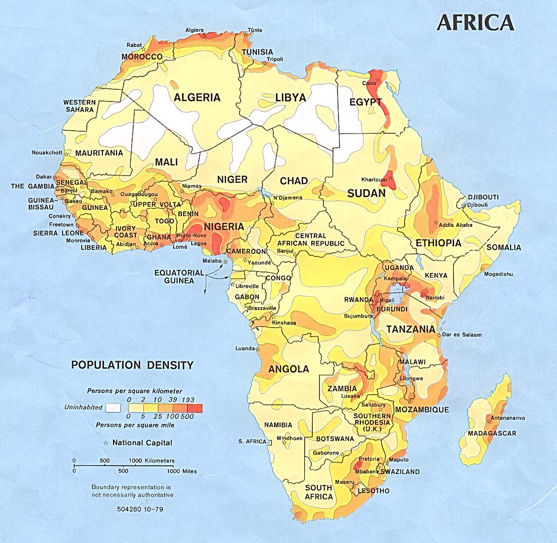 Map of Africa courtesy of Legacy.lib