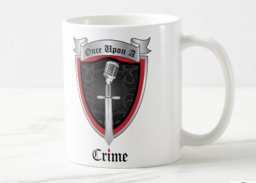 Once Upon a Crime White Logo Mug