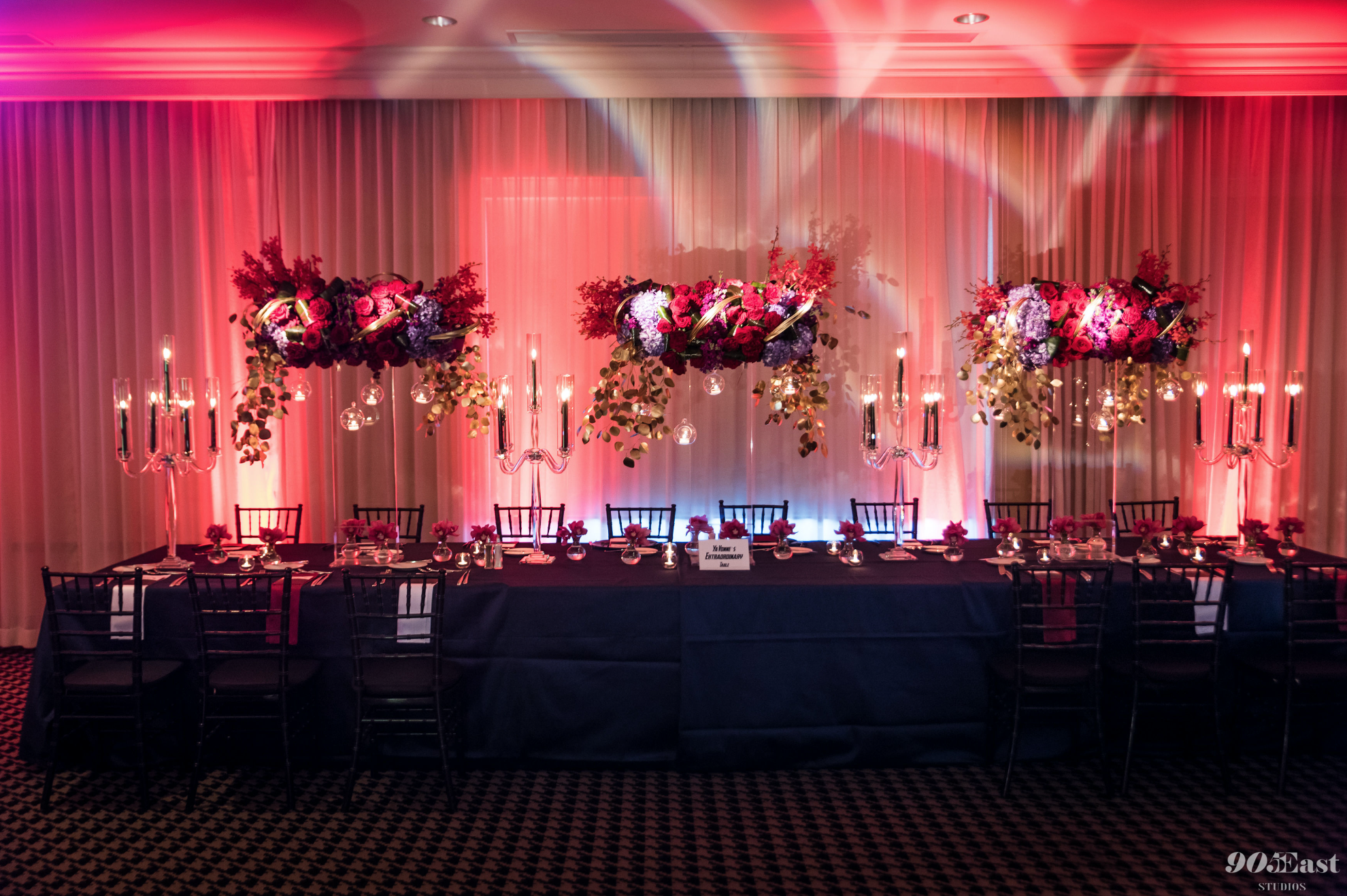 Our draping technicians transform staid venue walls and create areas to project graphics or create colorful lighting palettes.