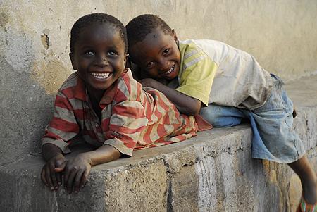 Village children making us smile