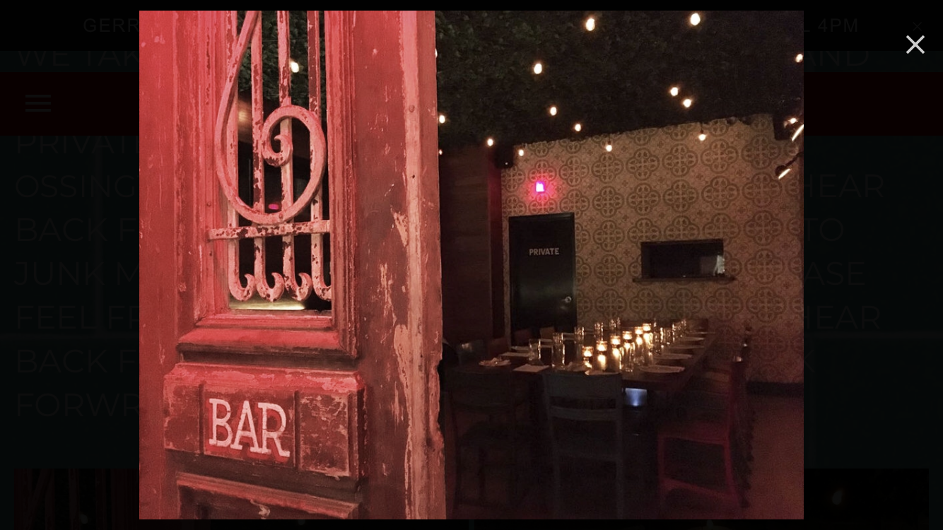 Cuban inspired venue and atmosphere.