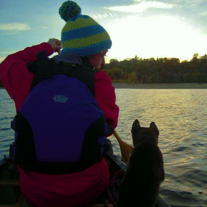Canoe with your dog $155 - Do you enjoy being on the water? Does your dog feel the same? Learning how to properly canoe with your dog is your next adventure! In this training you will learn basic paddling/canoeing techniques, the dos/don'ts of canoeing with your dog and canoe manners.Canoe training is offered in the spring, summer and fall and is held on quieter lakes that are less trafficked, this helps with less distractions for your dog.Canoe, paddles, and life-jackets are provided.Equipment you will need: 6 foot leash, and treats. 1.5 hours