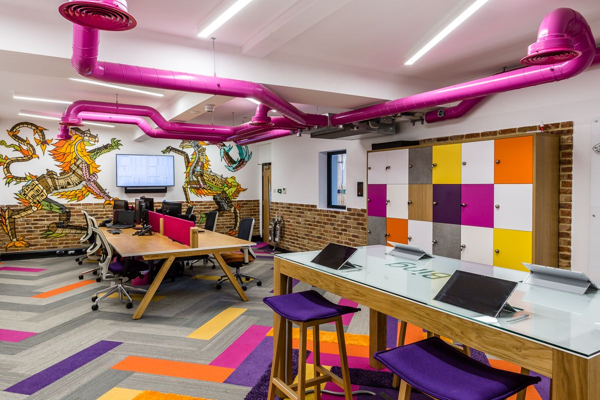 THE RESULT - The project was delivered in two stages whilst staff were in occupation. The result of the £3 million investment is a first class workplace with a unique vibe giving everyone at money.co.uk a workplace like no other.