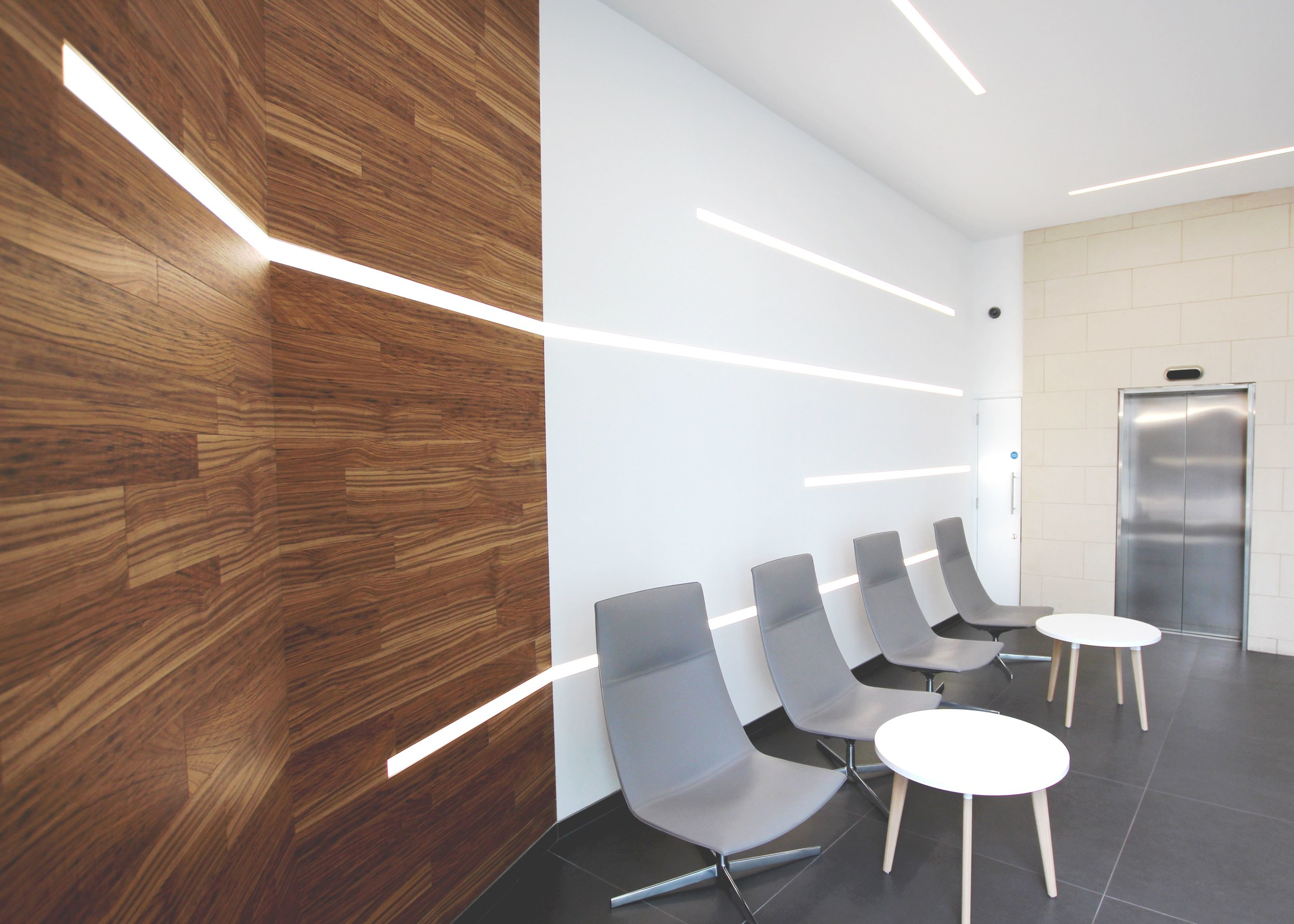 LIGHTING FOR 'CAT A' OFFICE REFURBISHMENT. - FOCUS POINT, LONDON.