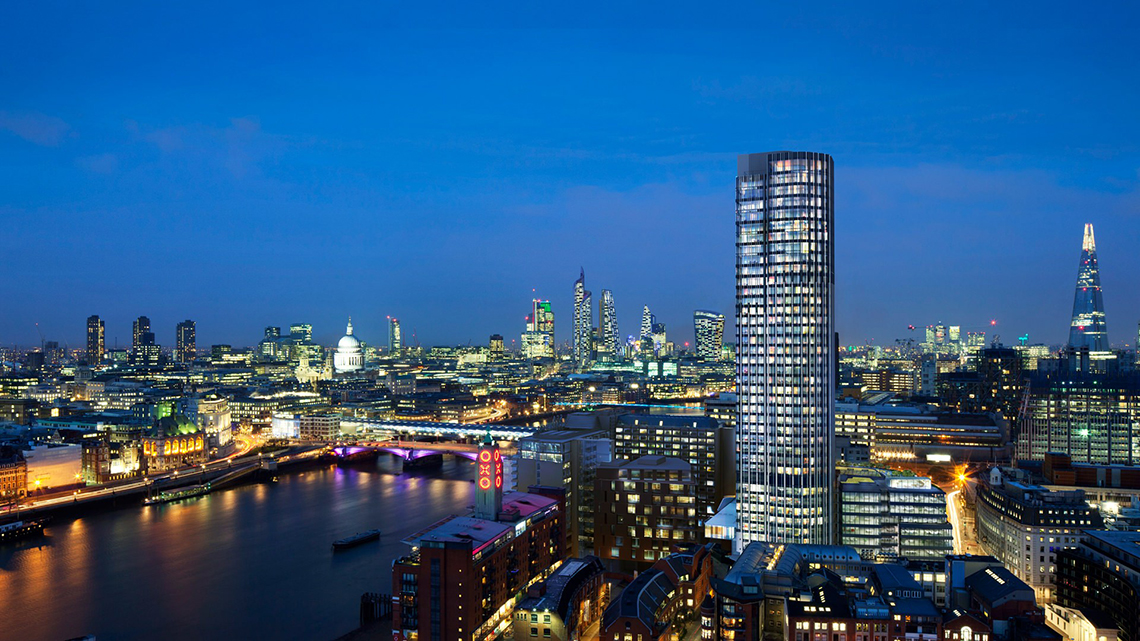 PROFESSIONAL LIGHTING DESIGN CONSULTANCY. - SOUTH BANK TOWER, LONDON.