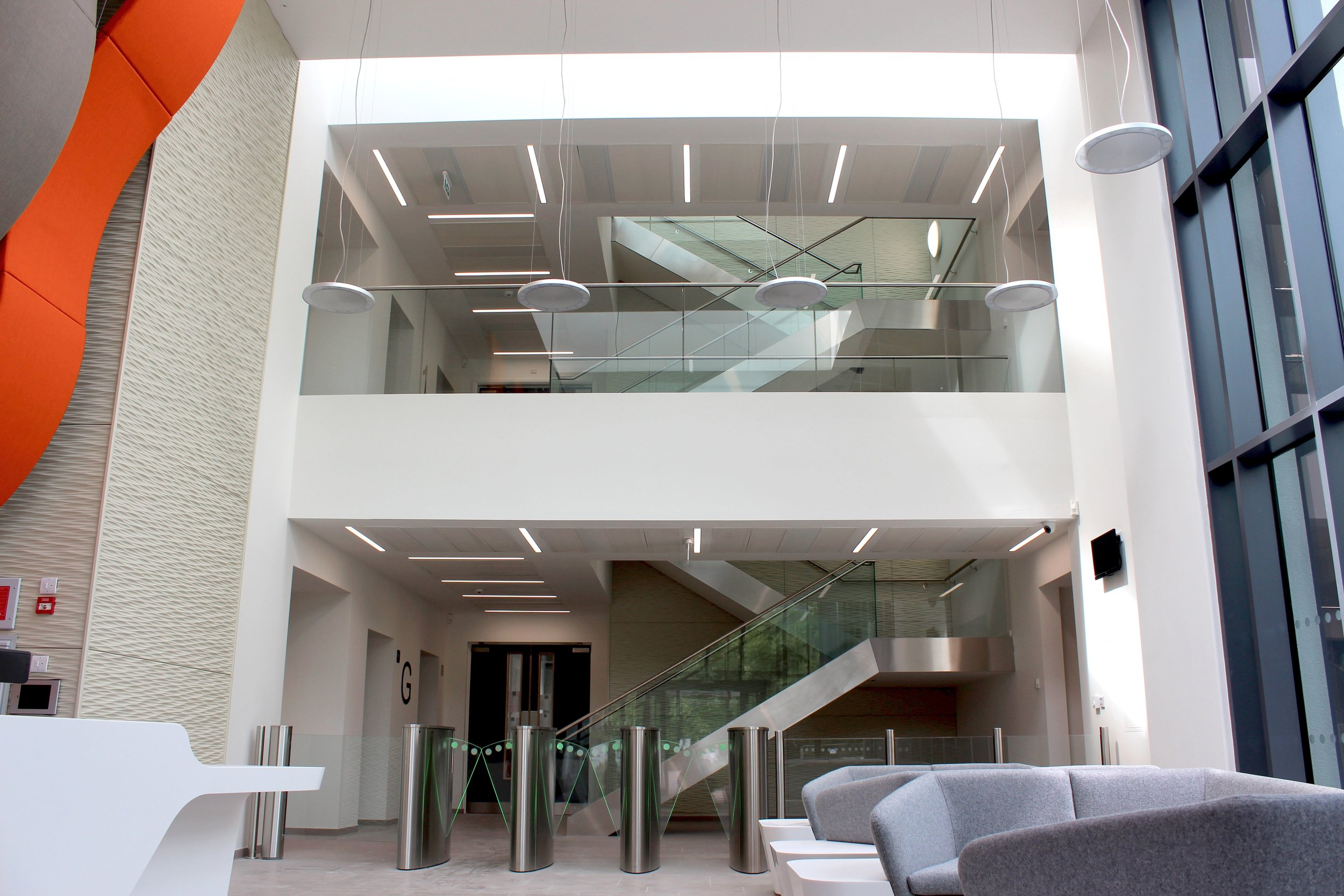 If you require lighting design and supply for a CAT B fit out scheme, why not get in touch with our experienced design team? - Get in touch us using our contact form: