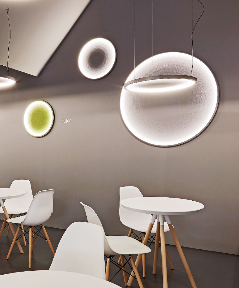 ACOUSTICS. - Noise pollution is a by-product of open office space. More and more lighting manufacturers are now looking to integrate acoustic properties into luminaires. The market really is going that way, and it seems lighting can do so much more than just provide illumination! There is plenty of materials and colours to choose from, so the designers should relish the opportunity of bringing more colour and texture into workplace!