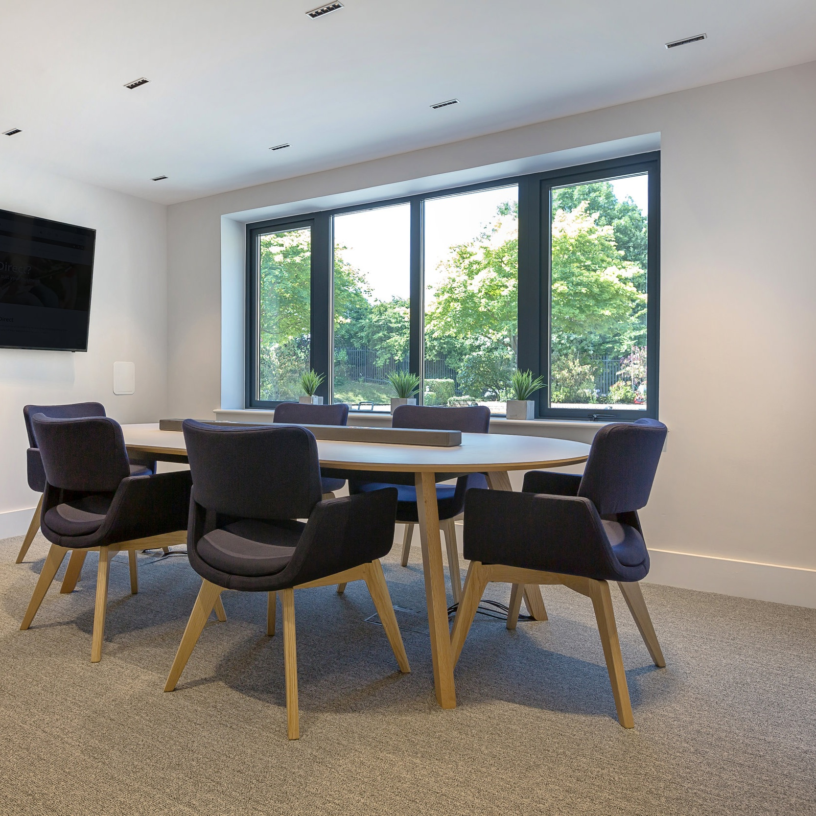 """ We felt the lighting was key in helping us underpin the design, but we also needed lighting that would work well within feature ceilings, with this in mind we wanted fittings that imitated the linear design throughout the scheme. "" - Hannah Wheeler - Spectrum Workplace."