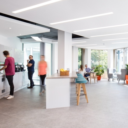 """ Our team feels very proud seeing the photos and to have delivered work on such a high quality, Grade A office fit out throughout the whole building. "" -"