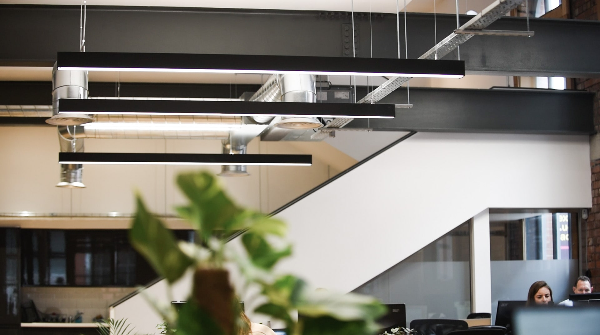 OFFICE LIGHTING FOR INDUSTRIAL STYLE CAT B FITOUT. - 1 CROSS YORK STREET, LEEDS.