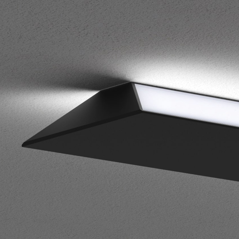 High visual comfort - When used as a surface luminaire, the Erie offers an unusual, visually striking illumination. Used as a single unit or a sophisticated system, it is guaranteed to be noticed.