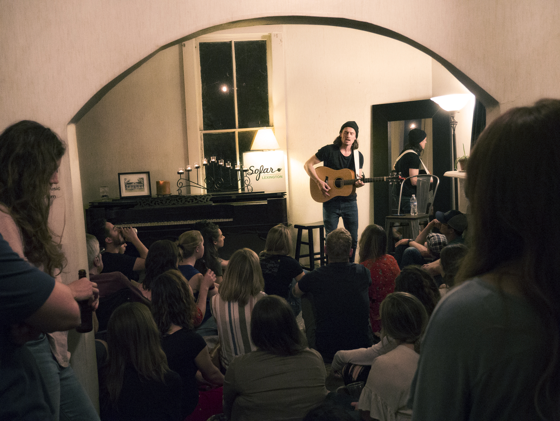 David Beckingham performs for a packed-in crowd on May 31. Photo by Eric Charles of Creative Pixels, provided by SoFar Lex team.