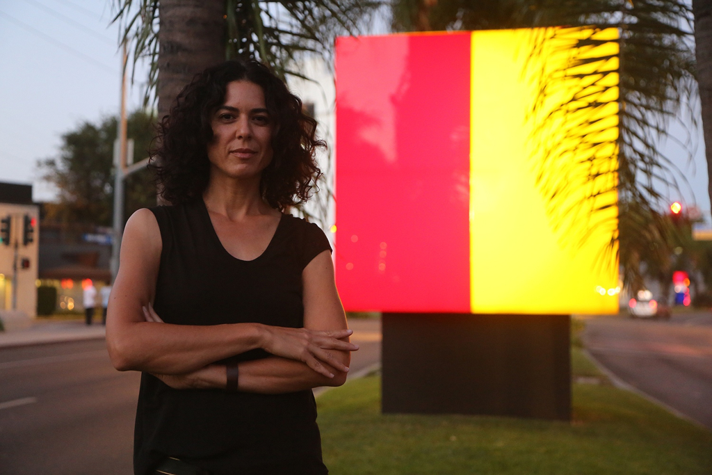 CARTWHEEL ART - Illumetric: Public Art Shapes Santa Monica Blvd With Light