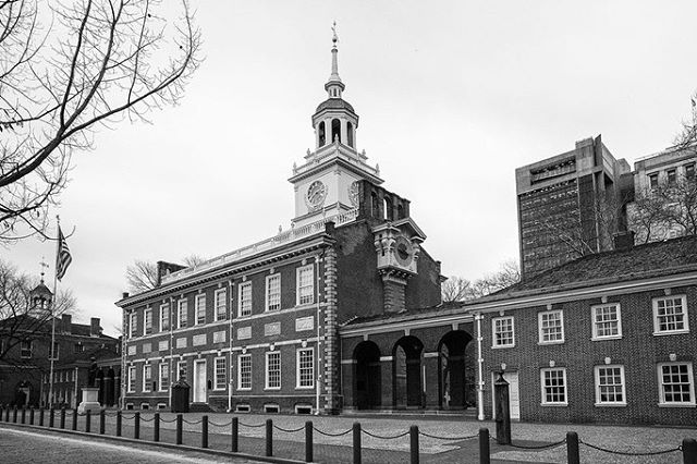 Happy 4th of July!  In honor of our nation's birthday, here are some fun facts about the architecture of Independence Hall, located in Philadelphia, PA. Built in 1732 and designed in a Georgian style, architects Andrew Hamilton and Edmund Woolley incorporated balanced proportions into their symmetric aesthetic. However the now-famous tower and steeple was not original to the design and were additionally added to the building in 1750.  William Strickland was later commissioned 1828 to restore the tower and steeple, and along with the restoration William added some notable details including a clock and adornments that help to make Independence Hall the American landmark that it is today!