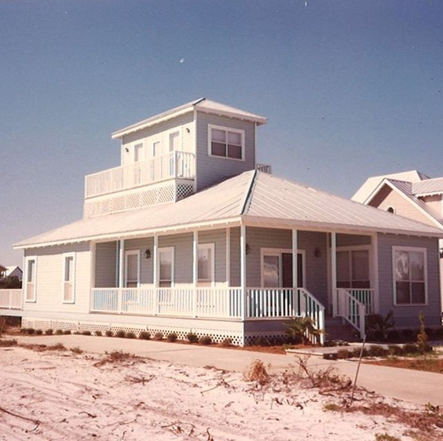 "My oh my, how things have changed! Featured below are a handful of early Prescott Architects & Classic Cottage designs built in the Crystal Beach neighborhood in the 1990's, which at that time was called ""Water's Edge"". Although all of the homes shown in these photos have weathered many Gulf of Mexico storms, the empty lots shown in these images have definitely not remained empty!"
